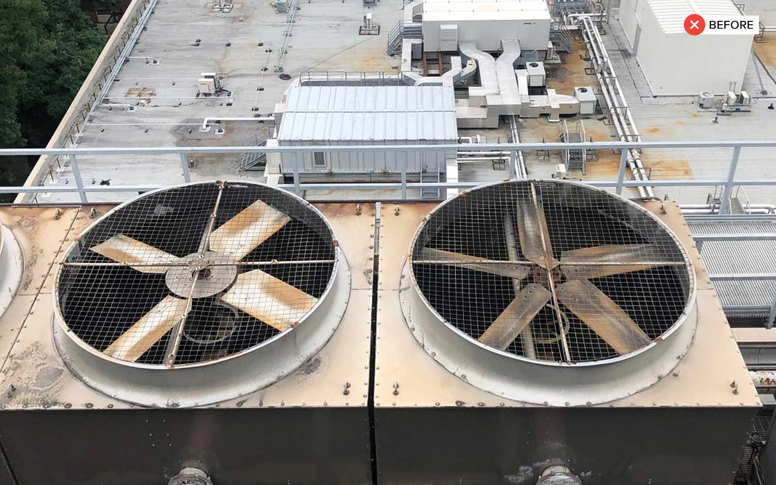 Two Cell Cooling Tower - cooling tower 1