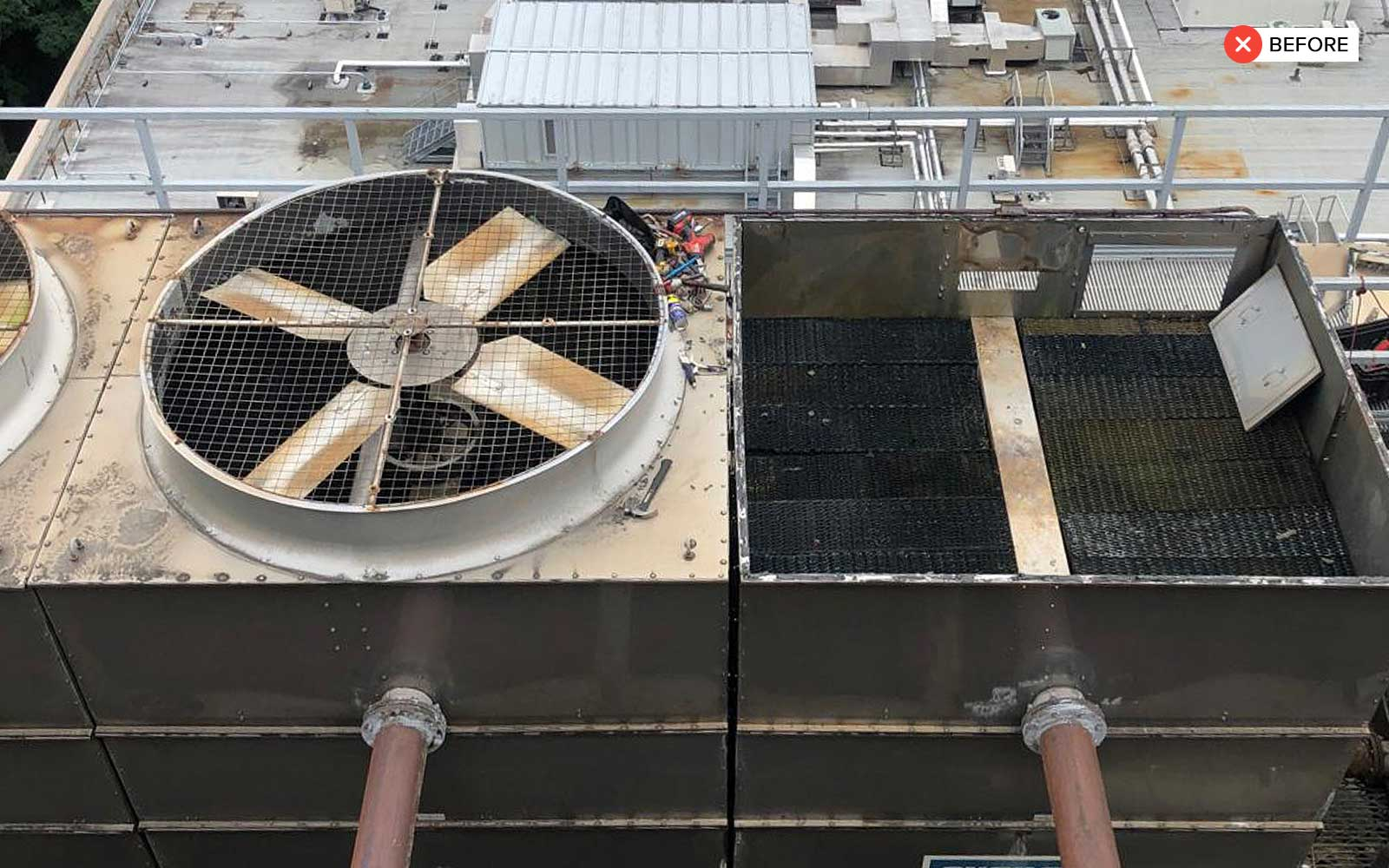 Two Cell Cooling Tower - cooling tower 2