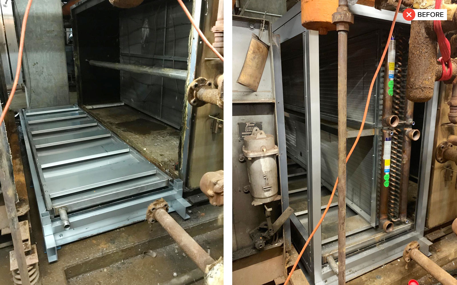 Water Coil Section Replacement - water coil section replacement 3